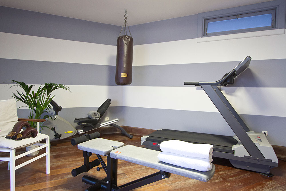 luxury villa with private gym